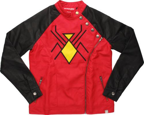 Spider-Woman Moto Zip Womens Jacket
