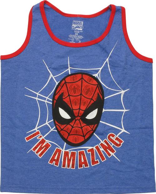 Spiderman Amazing Head Tank Top Juvenile T-Shirt