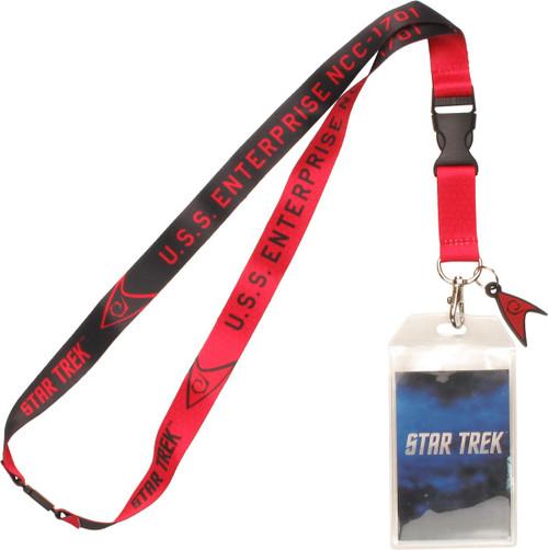 Star Trek TOS Enterprise Red Charm Lanyard