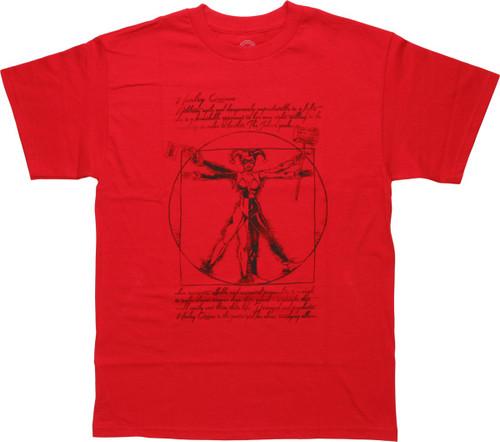 Harley Quinn Vitruvian T-Shirt