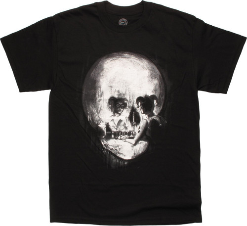 Harley Quinn Mirror Reflection Skull T-Shirt