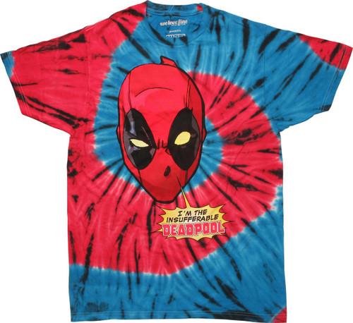 Deadpool Insufferable Tie Dye T-Shirt