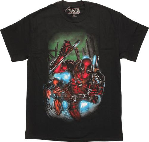 Deadpool Wolverine Dash Out T-Shirt