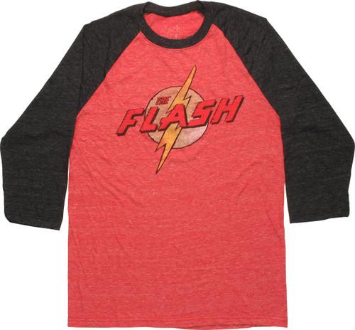 Flash Retro Logo Contrast Raglan T-Shirt