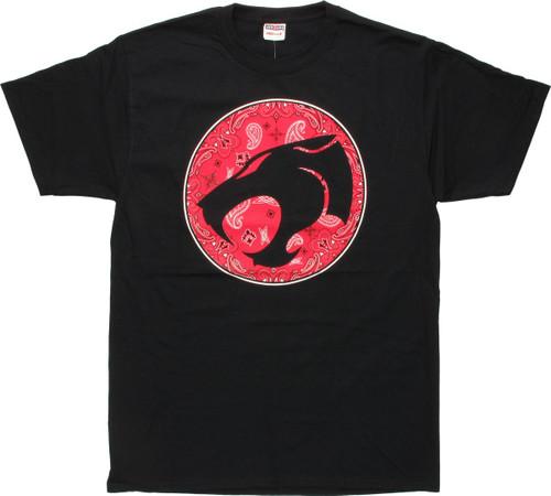 Thundercats Logo on Red Paisley T-Shirt
