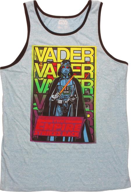 Star Wars Vader Name Stack ESB Ringer Tank Top