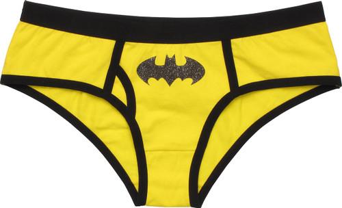 Batman Glitter Logo Yellow Panty
