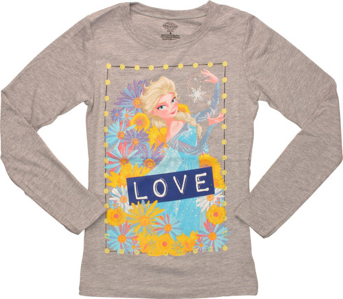 Frozen Elsa Love Heather Long Sleeve Youth T-Shirt