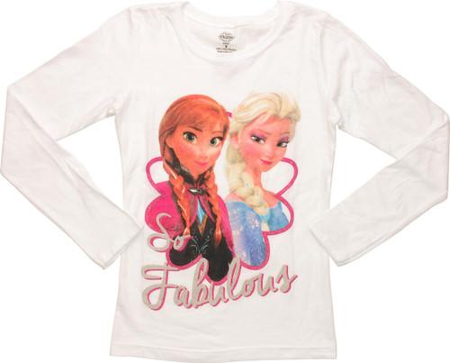 Frozen So Fabulous Long Sleeve Youth T-Shirt