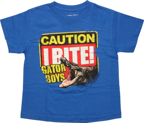 Gator Boys Caution I Bite Youth T-Shirt
