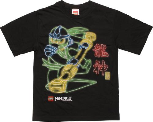 Lego Ninjago Glow Outline Youth T-Shirt