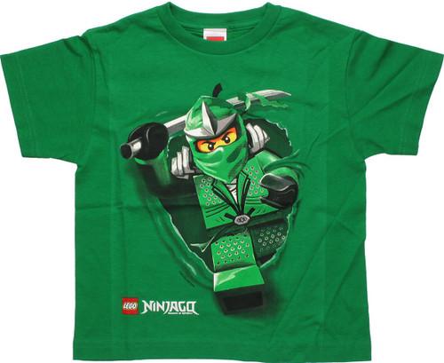Lego Ninjago Lloyd Run Green Youth T-Shirt