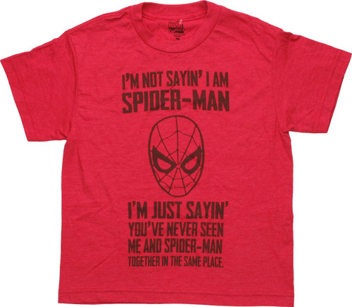 Spiderman Never See Together Youth T-Shirt