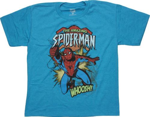 Spiderman Swinging Whoosh Youth T-Shirt