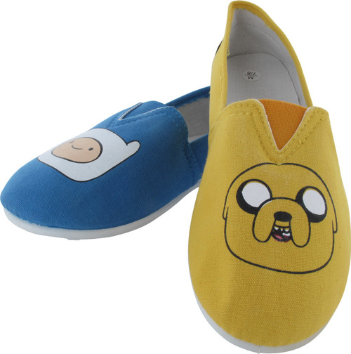 Adventure Time Jake and Finn Slip On Shoe Slippers