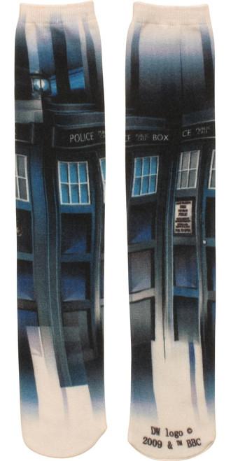Doctor Who TARDIS Sublimated Crew Cut Socks