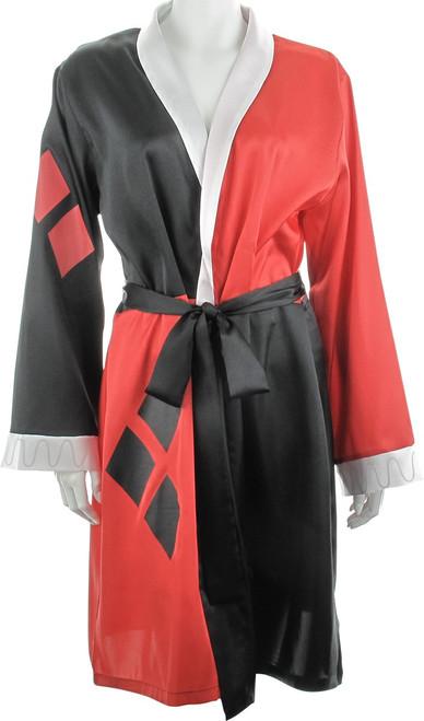 Harley Quinn White Collar Satin Junior Robe