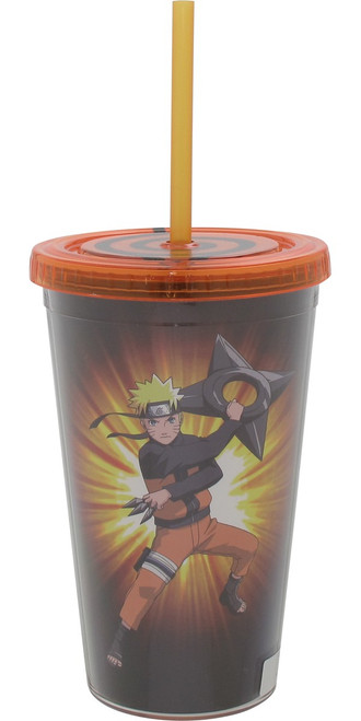 Naruto and Leaf Symbol Travel Cup