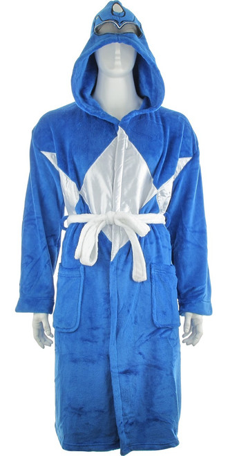 Power Rangers Blue Ranger Mesh Masked Hooded Robe