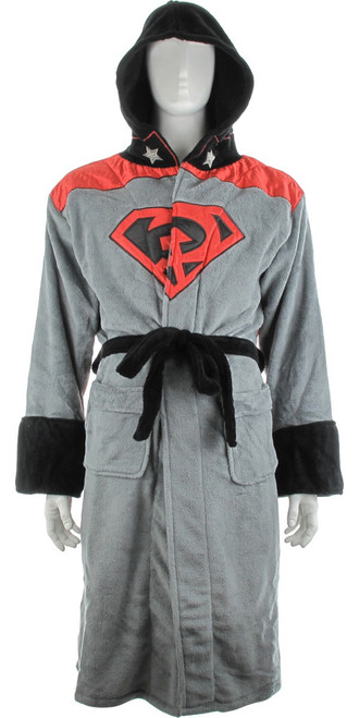 Superman Red Son Hooded Fleece Robe