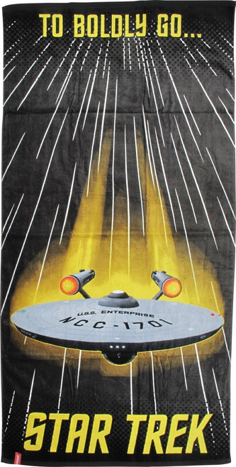 Star Trek To Boldly Go Beach Towel