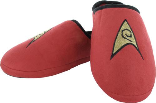 Star Trek TOS Engineering Red Slippers