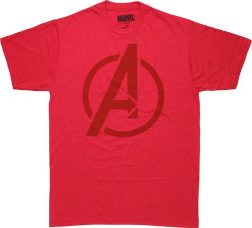 Avengers Assemble Logo Red T-Shirt