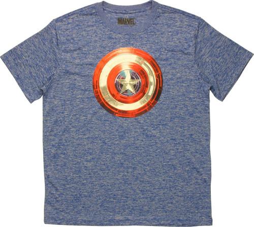 Captain America Tech Shield Logo T-Shirt