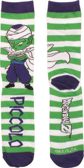 Dragon Ball Z Chibi Piccolo Striped Crew Socks