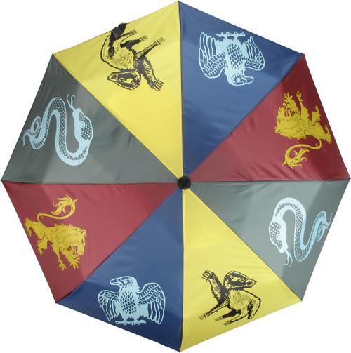 Harry Potter Hogwarts Houses Umbrella