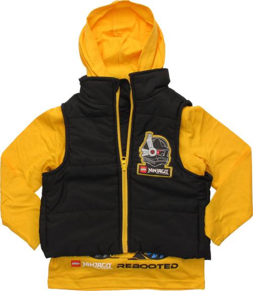 Lego Ninjago Hood Shirt Sleeveless Juvenile Jacket