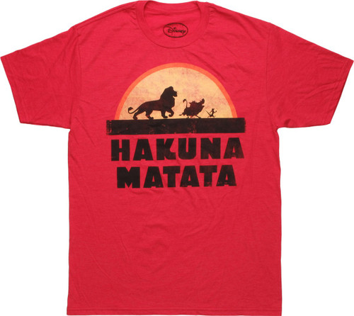 Lion King Hakuna Matata Silhouette Sunset T-Shirt