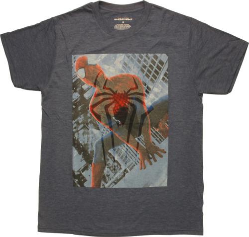 Spiderman Spider Logo Overlay T-Shirt