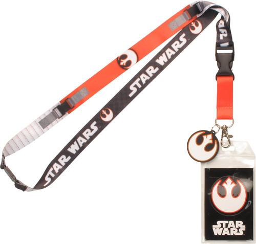 Star Wars Rebel Alliance Logo Charm Lanyard