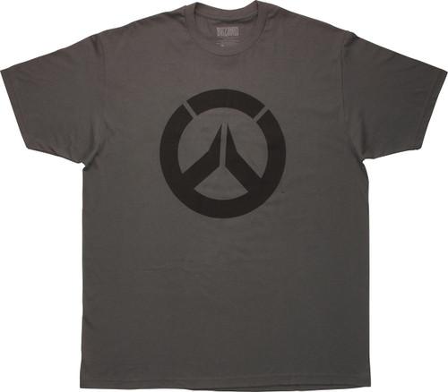 Overwatch Black Logo Icon Gray T-Shirt