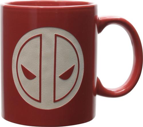 Deadpool Engraved Face Logo Mug