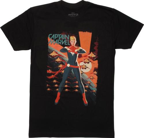 Captain Marvel Rise Womens Boyfriend T-Shirt