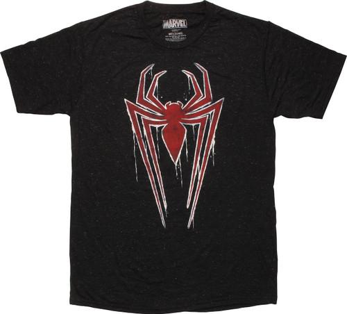 Spiderman Water Crawl Drips Logo T-Shirt