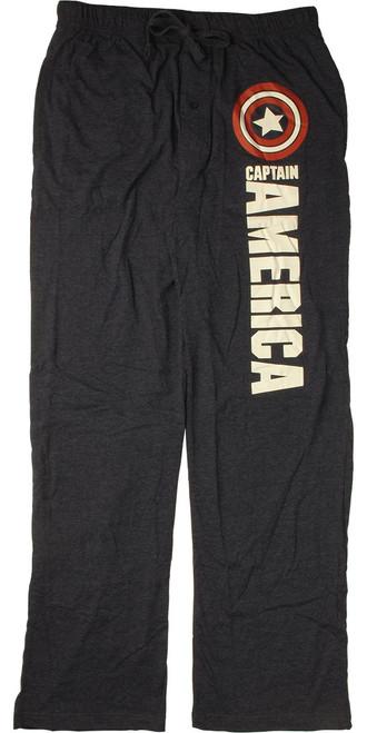Captain America Shield Logo Navy Pajama Pants