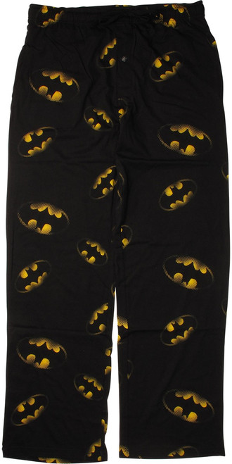 Batman All Over Grid Logo Pajama Pants