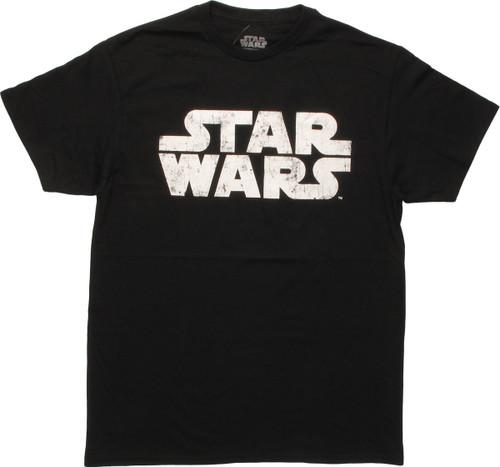 Star Wars Vintage Name Logo Black T-Shirt
