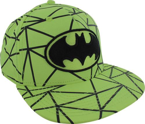 Batman Logo Prism Neon Snapback Hat