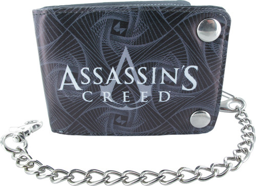 Assassins Creed Logo Snap Chain Bifold Wallet