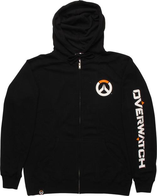 Overwatch Logo Name up Arm Zip Hoodie