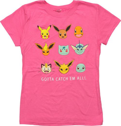 Pokemon Gotta Catch Em All Girls Youth T-Shirt