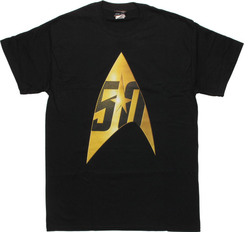 Star Trek 50th Anniversary Delta Black T-Shirt