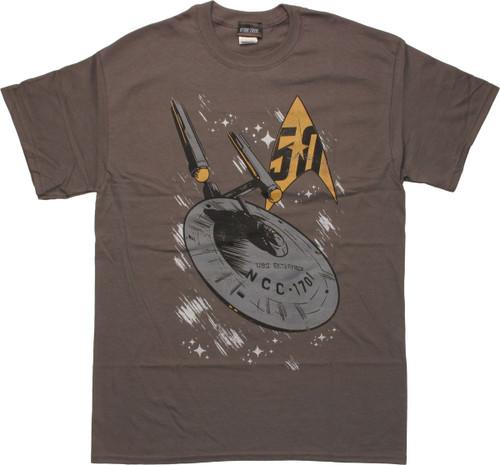 Star Trek 50th Anniversary USS Enterprise T-Shirt