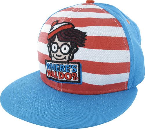 042c23d2885 Where s Waldo Name and Character Snapback Hat
