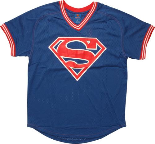 Superman Logo 00 Athletic V Neck Jersey Shirt