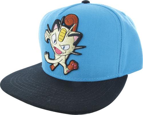 Pokemon Meowth Snapback Hat